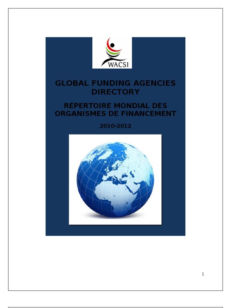 ab3ca0c94 Internatioanl Funding Agencies Directory