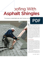 How to Roof Woth Asphalt Shingles