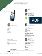 DEFY - smartphone – telefone Android - Especificações - Motorola Mobility, Inc