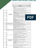 Formato para evaluar páginas web