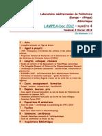 LAMPEA-Doc 2012 – numéro 4 / Vendredi 3 février 2012