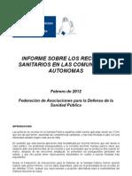 Informe Sobre Los Recortes Sanitarios
