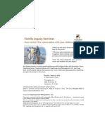 Family Legacy Seminar