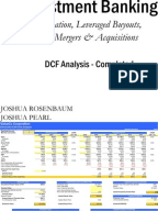 dcf analysis template cost of capital discounted cash flow