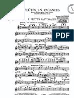 Castérède flute quartet partes