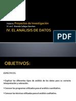 Módulo lV. EL ANÁLISIS DE DATOS