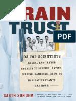 Brain Trust by Garth Sundem - Excerpt
