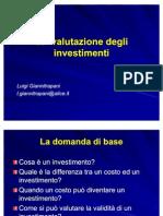 8 La Valutazione Degli Investimenti