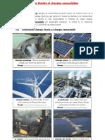 Energies fossiles et énergies renouvelables