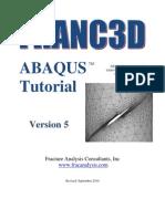Franc3D Abaqus Tutorial