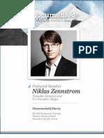 Niklas Zennstrom Documented@Davos Transcript