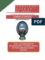des de Fiscalizacion y Control Social en Telecomunicaciones Bolivia