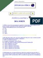 SIMULADO - POTÊNCIA ELÉTRICA