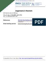 M.R Dennis and J.H Hannay- Geometry of Calugareanu's theorem