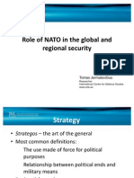 Role of NATO in the Global and Regional Security.