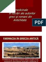 Plantele Medic in Ale in Lucrari Ale Autorilor Greci Si Romani Din Antic Hit Ate