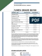 Penetration Bitumen 80-100 Specifications