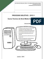 Prova_Tecnico Subsequente 2012.1