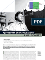 Quantum Entanglement and Locality