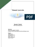 Manual Ayurveda B.valerio