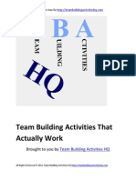 Team Building Activities That Actually Work
