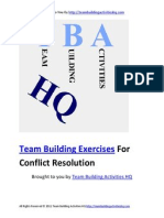 Team Building Exercises for Conflict Resolution