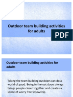 Outdoor Team Building Activities for Adults