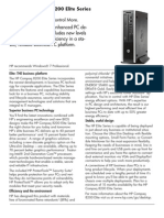 HPCompaq 8200 Elite Series BPCData Sheet