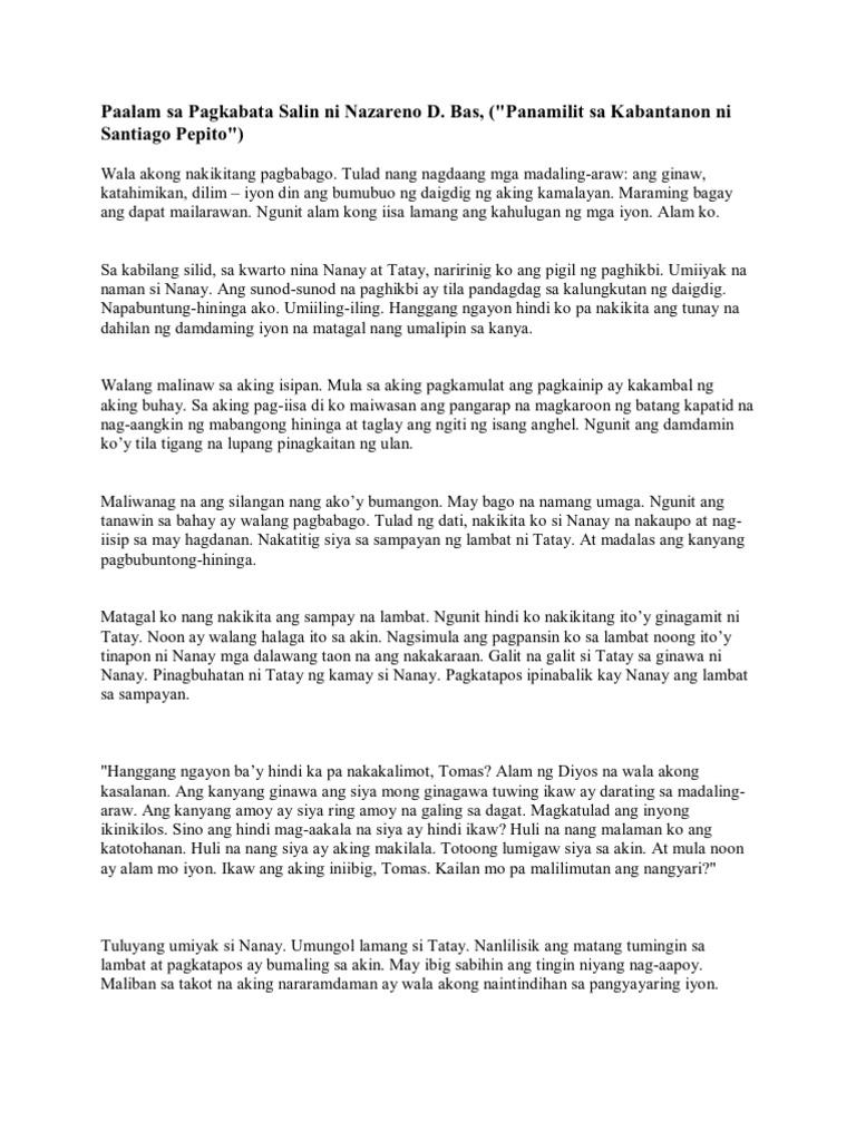 talam buhay ni nazareno d bas Talambuhay ni nazareno bas isang batikang manunulat na cebuano suring basa ipinasa ni: reymark sarte iv – sapphire ipinasa kay: mrs creus susi ng tagumpay pamagat i may-akda: flor s.