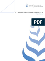 City Competitiveness Report Preview 2009