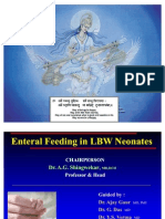 Enteral Feeding in LBW Neonates