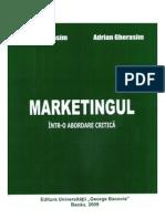 Marketingul - intr-o abordare critica