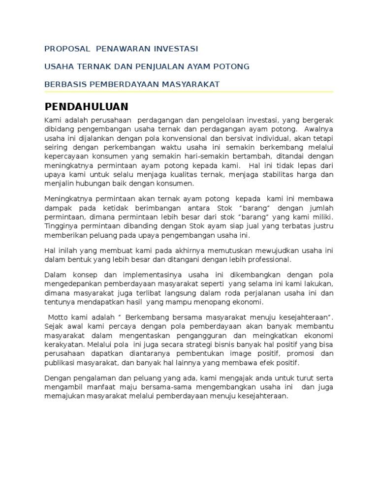proposal penawaran investasi forex surabaya