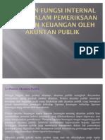 Peranan Fungsi Internal Audit Dalam Pemeriksaan Laporan Keuangan