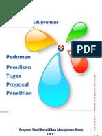 Pedoman Penulisan Tugas Proposal Penelitian-manajemen Bisnis@2011