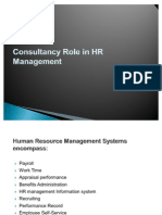 Consultancy Role in HR Management