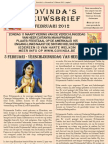 Govinda's E-Nieuwsbrief 2012 FEBR