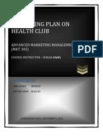Marketin Plan on Health Club