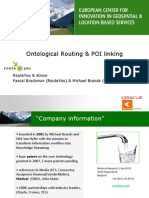 Ontological Routing & POI Linking