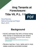 Protecting Tenants Foreclosure Titlevii Pl11122 Drammler 20100506