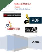 2009-2010 CSUN HPV Final Design Report