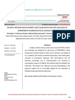 Rp-hplc Method Development and Validation for the Analyisis of Sunitinib in Pharmaceutical Dosage Forms