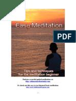 Easy Meditations Methods