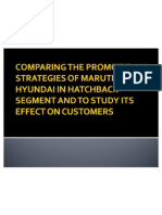 Comparing the Promotional Strategies of Maruti and Hyundai