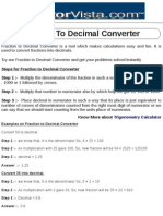 Fraction to Decimal Converter