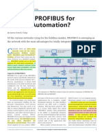 Why Use PROFIBUS for Process Automation