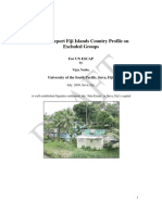 Dr Vijay Naidu - USP - July 2009 - Draft Report for UNESCAP - Fiji Islands Country Profile on Excluded Groups