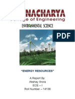 Energy Resources Document