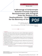 The Advantage of Arthroscopic ACL Reconstruction With...