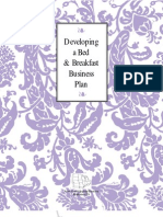 Developing a Bed and Breakfast Business Plan